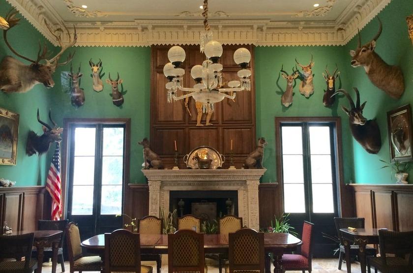 Houmas House Plantation, Louisiane, Etats Unis, green room