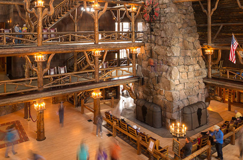 Old Faithful Snow Lodge, Yellowstone Park, intérieur