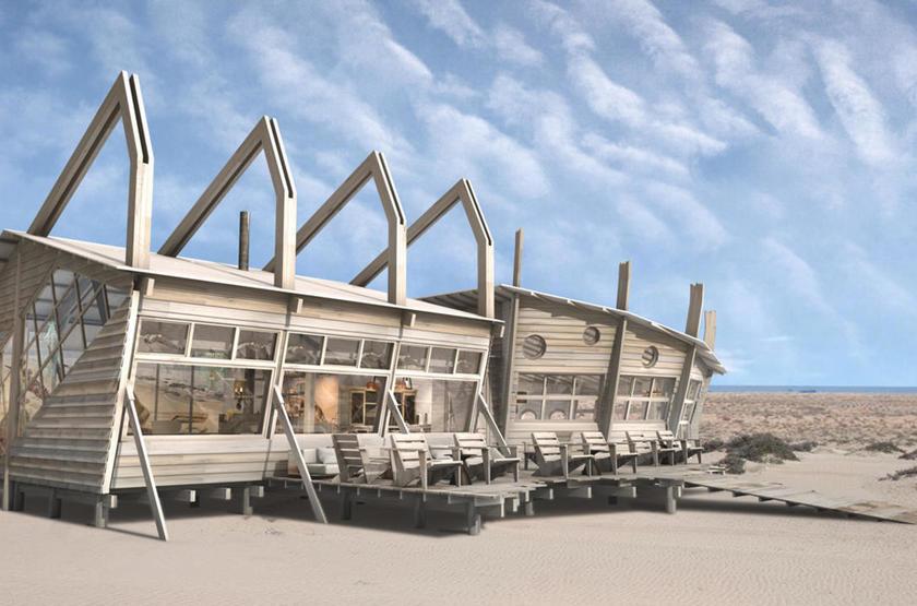 Skeleton Coast Shipwreck Lodge, Namibie, extérieur