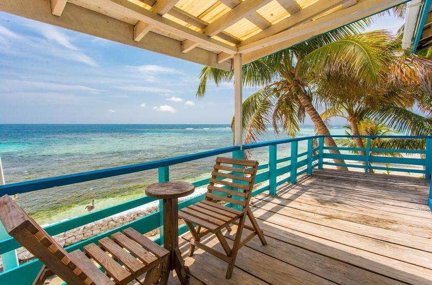 Ranguana Caye Cabanas, Belize, île de Placencia, terrasse