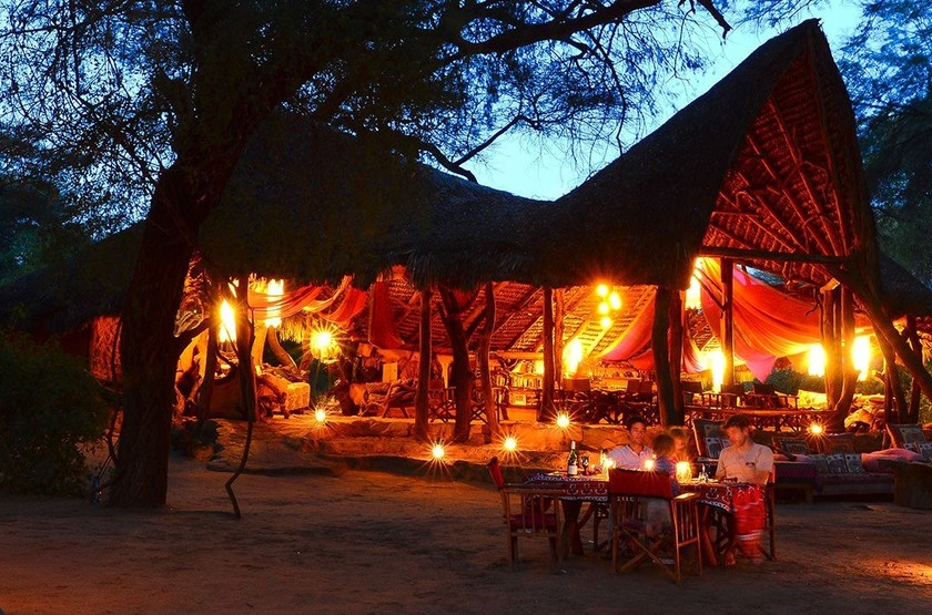 Elephant Watch Camp, Samburu, Kenya, by night