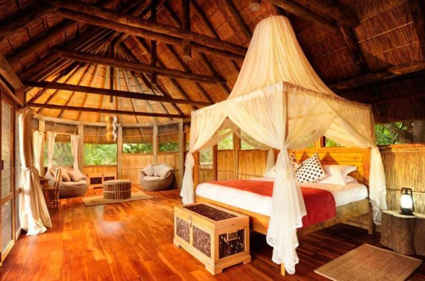 Bilimungwe Camp, South Luangwa, Zambie, chambre