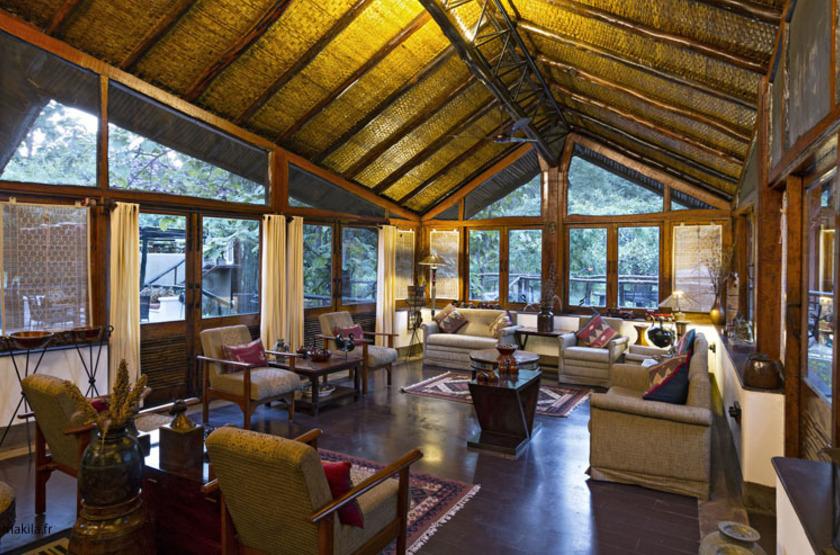 Reni Pani Jungle Lodge, Satpura Reserve, Inde, salon