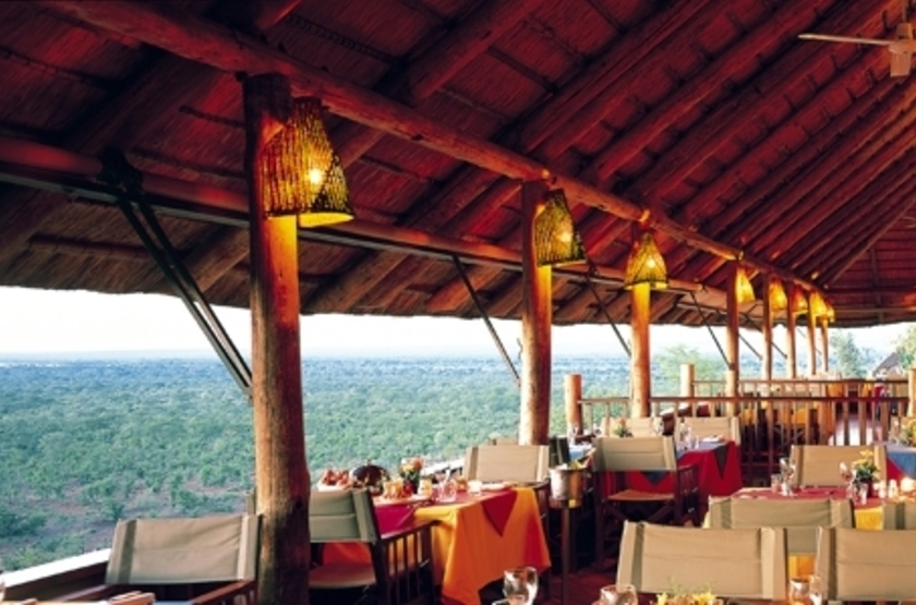 Victoria Falls Safari Lodge, Victoria Falls, Zimbabwe, restaurant