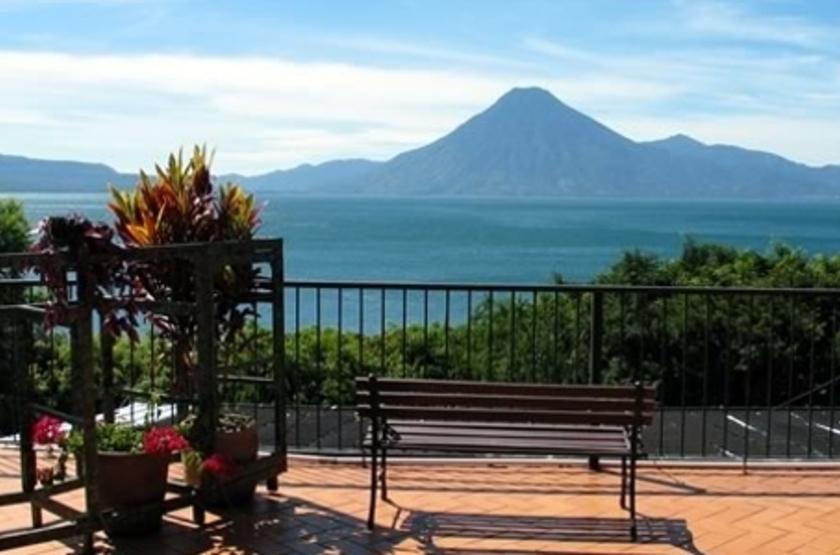 La Posada de Don Rodrigo, Atitlan, terrasse vue lac