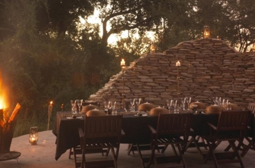 Tintswalo Safari Lodge, Manyeleti Reserve, Afrique du Sud, boma