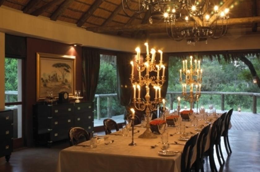 Tintswalo Safari Lodge, Manyeleti Reserve, Afrique du Sud, restaurant