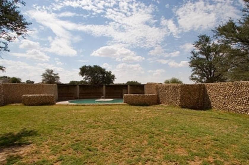Twee Rivieren, Nossob, Kalahari Transfrontier Park, Afrique du Sud, piscine