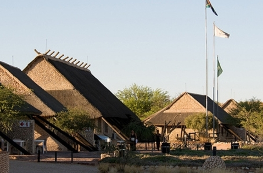 Twee Rivieren, Nossob, Kalahari Transfrontier Park, Afrique du Sud, chalet