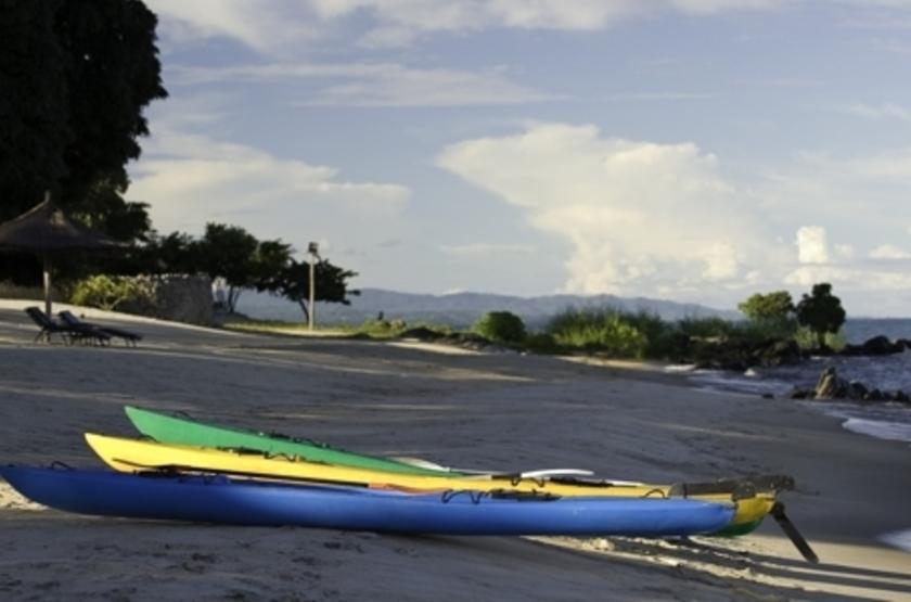 Chintetche Inn, lac Malawi, kayak, plage