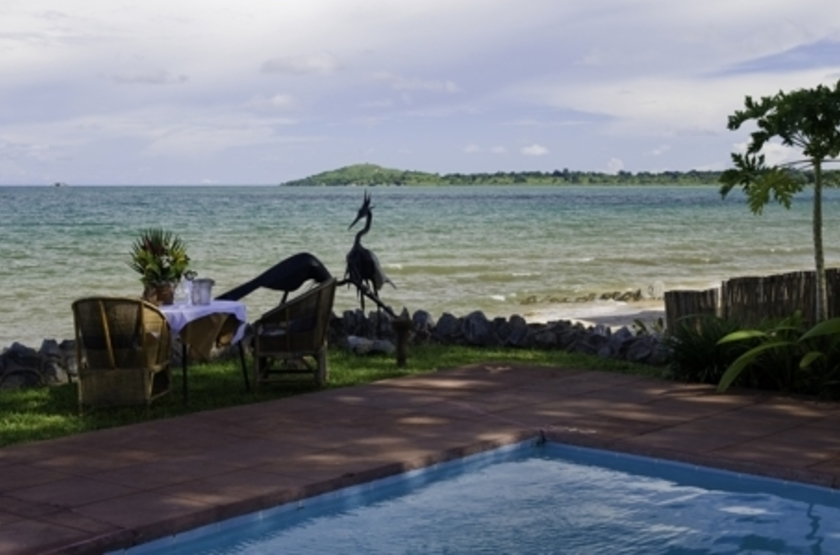 Chintetche Inn, lac Malawi, piscine