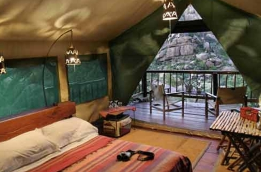 Erongo Wilderness Lodge, Namibie, chambre