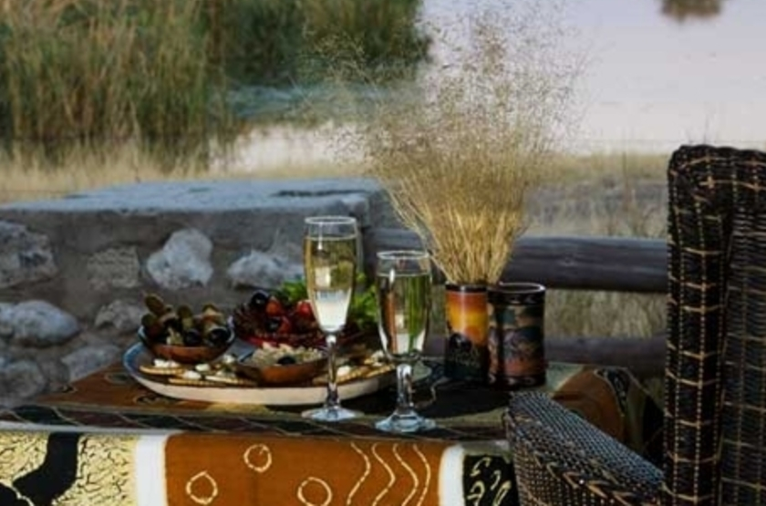 Namutoni Rest Camp, Parc d'Etosha, Namibie, dîner