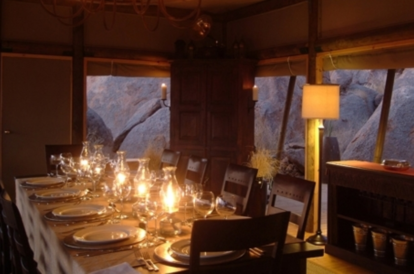 Wolwedans Boulders Camp, Namibie, restaurant