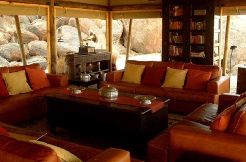 Wolwedans Boulders Camp, Namibie, salon