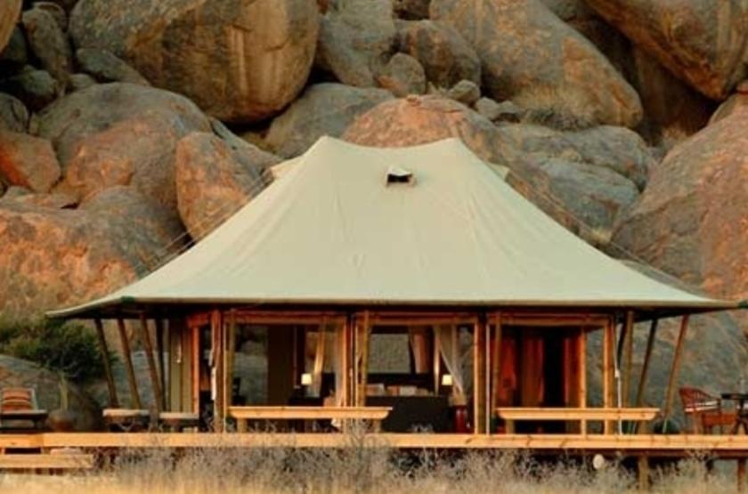 Wolwedans Boulders Camp, Namibie, tente
