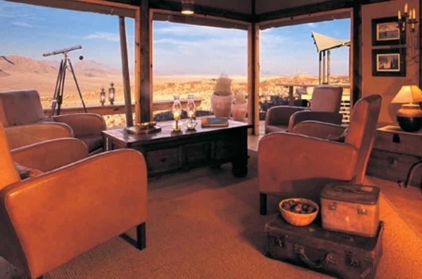 Wolwedans Dune Lodge, Namibie, salon