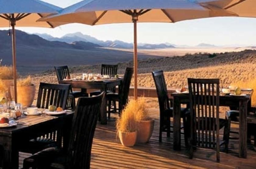 Wolwedans Dune Lodge, Namibie, terrasse