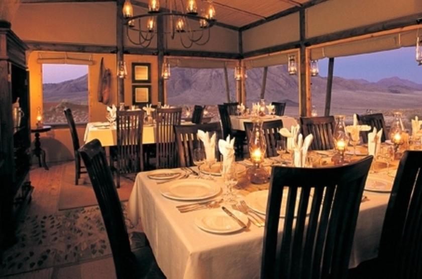 Wolwedans Dune Lodge, Namibie, restaurant