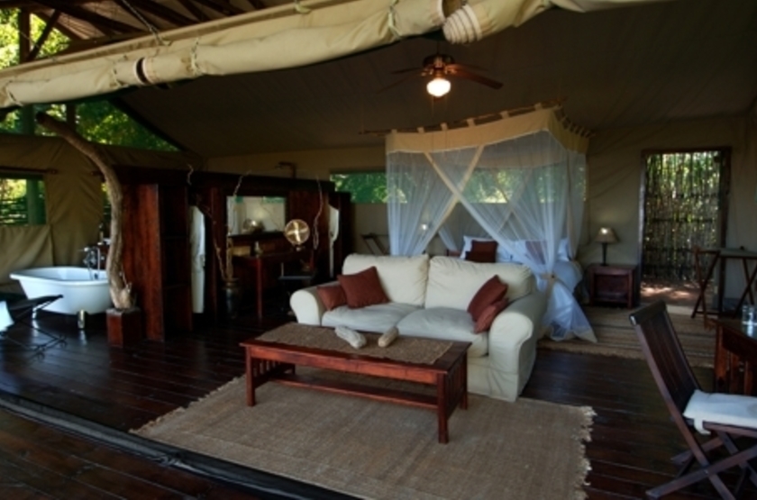 Chiawa Camp, Lower Zambezi, Zambie, tente
