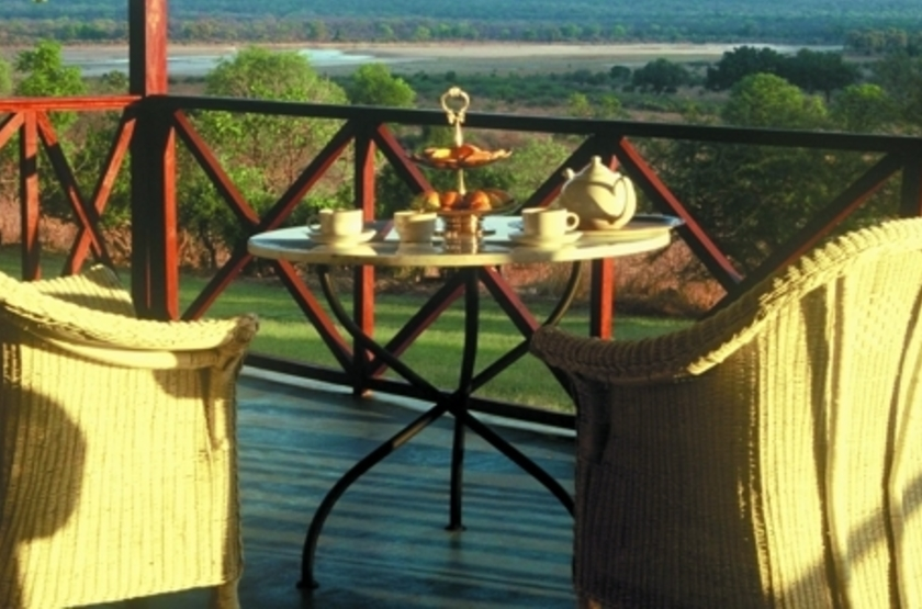 Chichele Lodge, South Luangwa, Zambie, terrasse