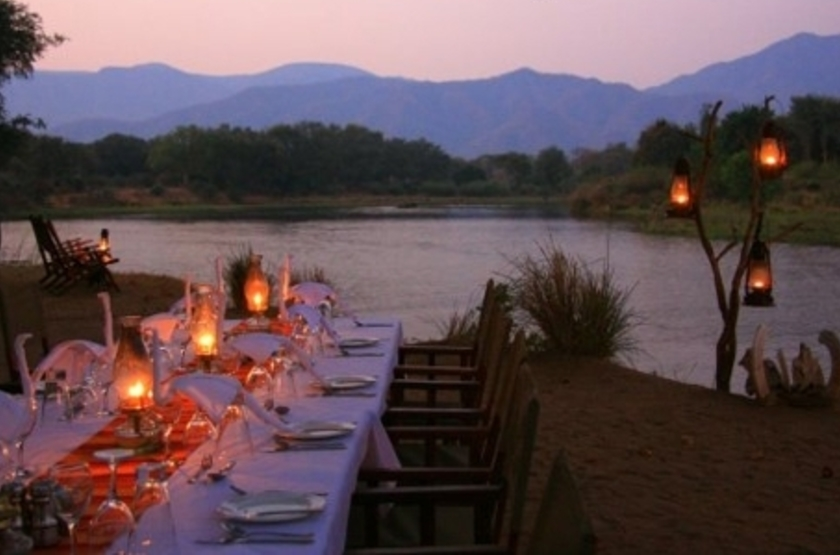 Chongwe River Camp, Lower Zambezi, Zambie, dîner