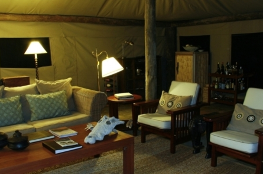 Kalamu Bush Camp, South Luangwa, Zambie, salon