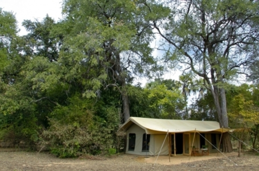 Kalamu Bush Camp, South Luangwa, Zambie, tente