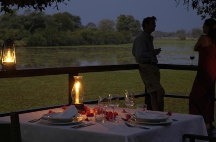 Kapani Lodge, South Luangwa Valley, Zambie, sunset