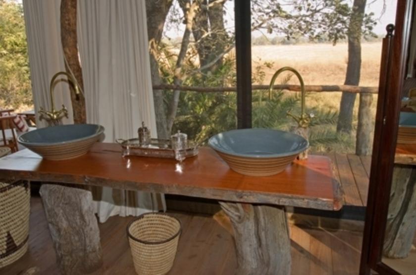 Kapinga Camp, Kafue, Zambie, salle de bains