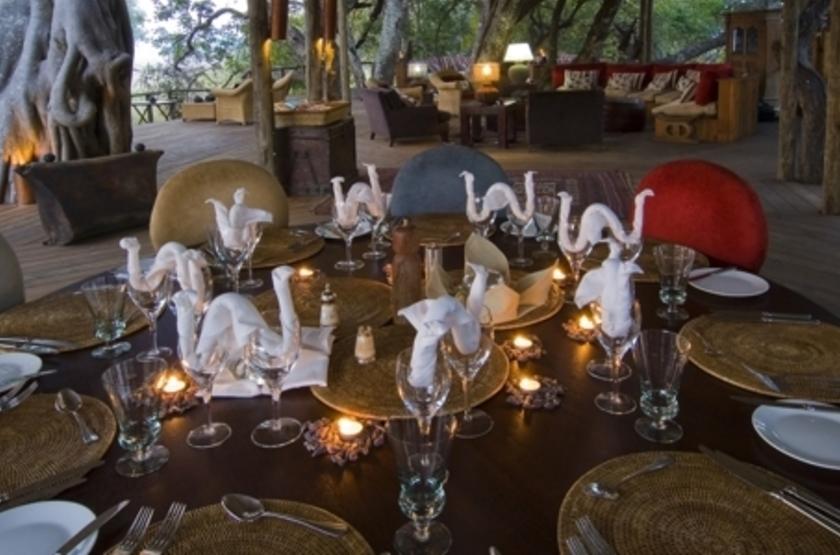 Kapinga Camp, Kafue, Zambie, dinning room
