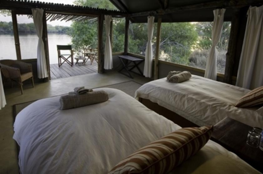 Lufupa Tented Camp, Kafue, Zambie, chambre