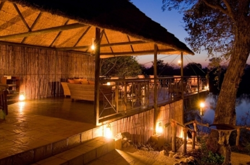 Lunga River Lodge, Kafue, Zambie, lounge