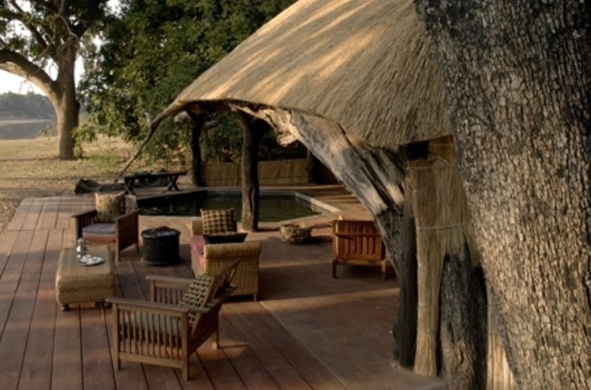 Mchenja Camp, Luangwa River, Zambie, salon