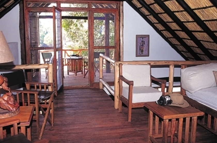 Mfuwe Lodge, South Luangwa, Zambie, intérieur