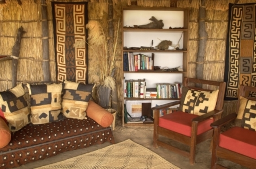 Mwaleshi Camp, North Luangwa, Zambie, lounge