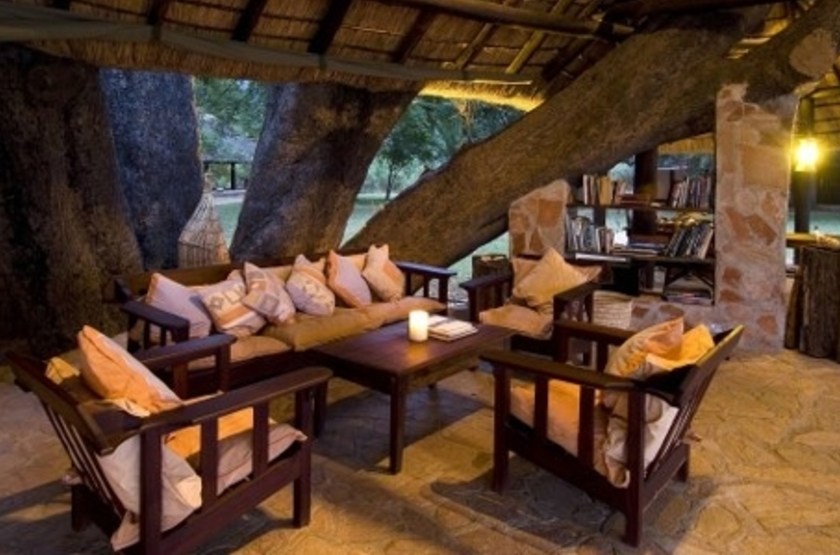 Nkwali Camp, South Luangwa, Zambie, lounge