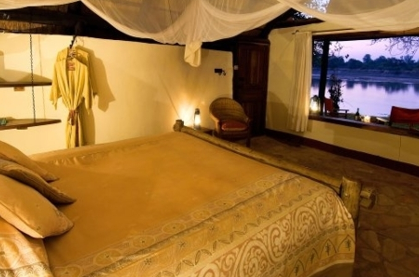 Nkwali Camp, South Luangwa, Zambie, chambre