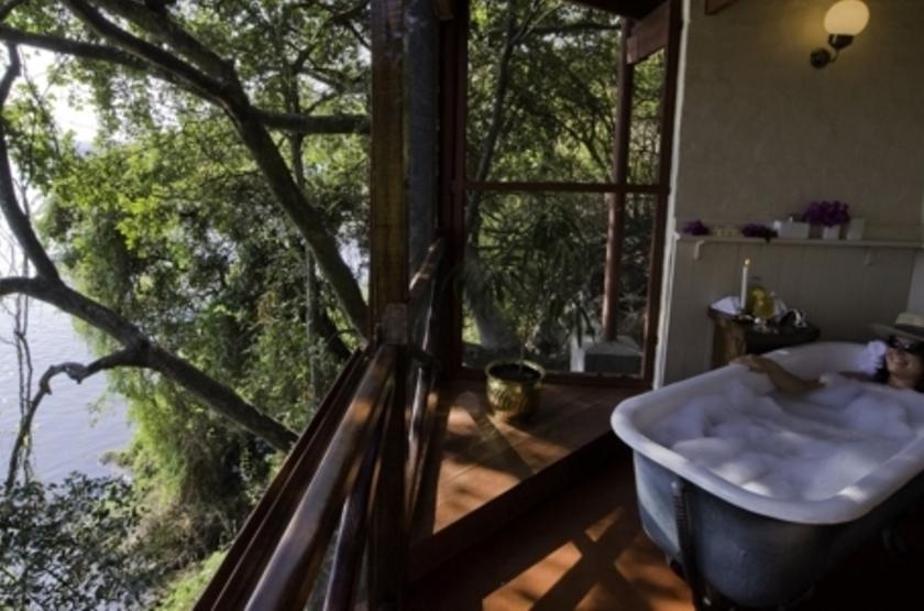 River Club, Livingstone, Zambie, salle de bains