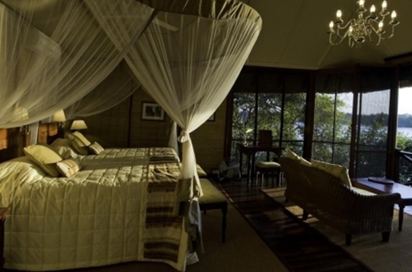 River Club, Livingstone, Zambie, chambre
