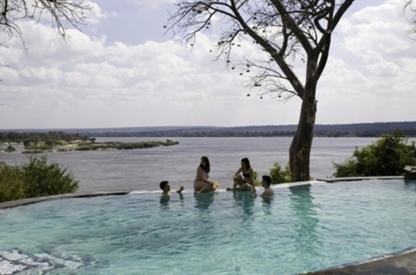 River Club, Livingstone, Zambie, piscine