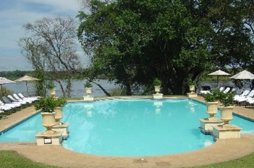 Royal Livingstone, Zambie, piscine