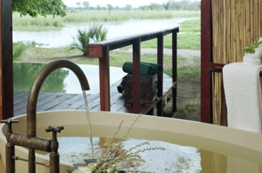 Sausage Tree Camp, Lower Zambezi, Zambie, salle de bains