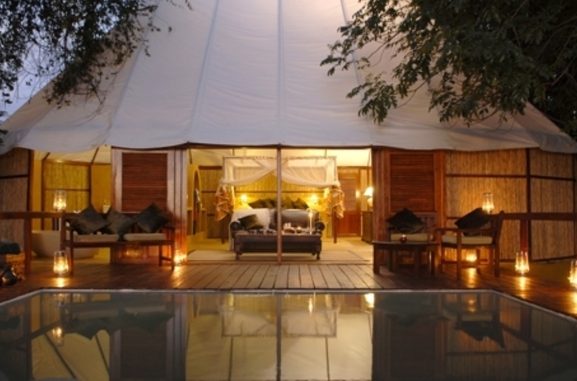 Sausage Tree Camp, Lower Zambezi, Zambie, piscine