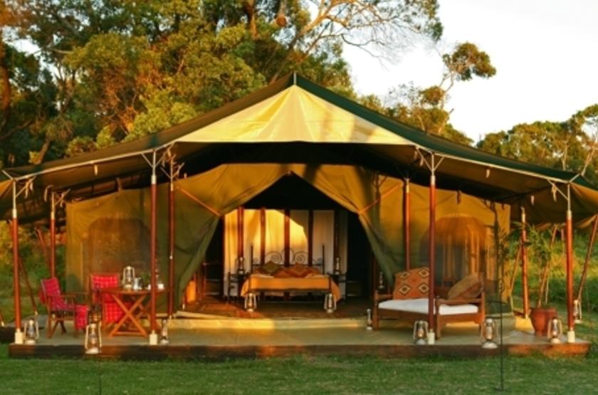 Elephant Pepper Camp, Masai Mara, Kenya, extérieur tente