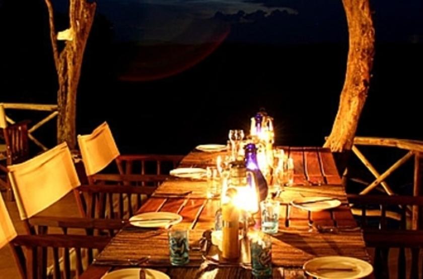 Mihingo Lodge, Lac Mburo, Ouganda, restaurant