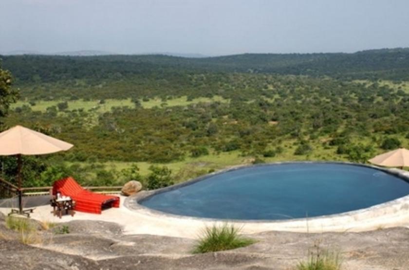 Mihingo Lodge, Lac Mburo, Ouganda, piscine