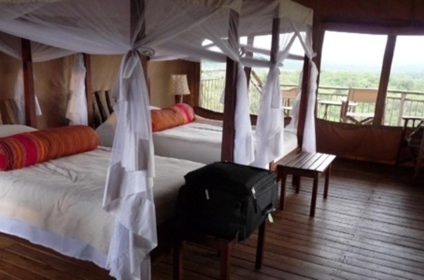 Mihingo Lodge, Lac Mburo, Ouganda, chambre