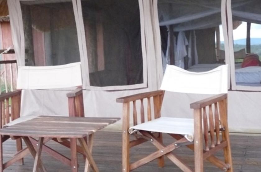 Mihingo Lodge, Lac Mburo, Ouganda, terrasse