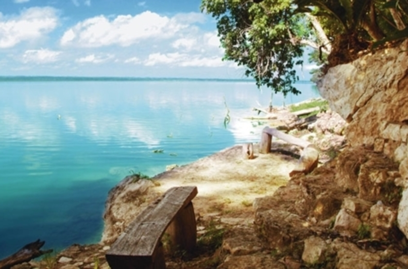 La Lancha Lodge, Lake Peten Itza, Guatemala, vue